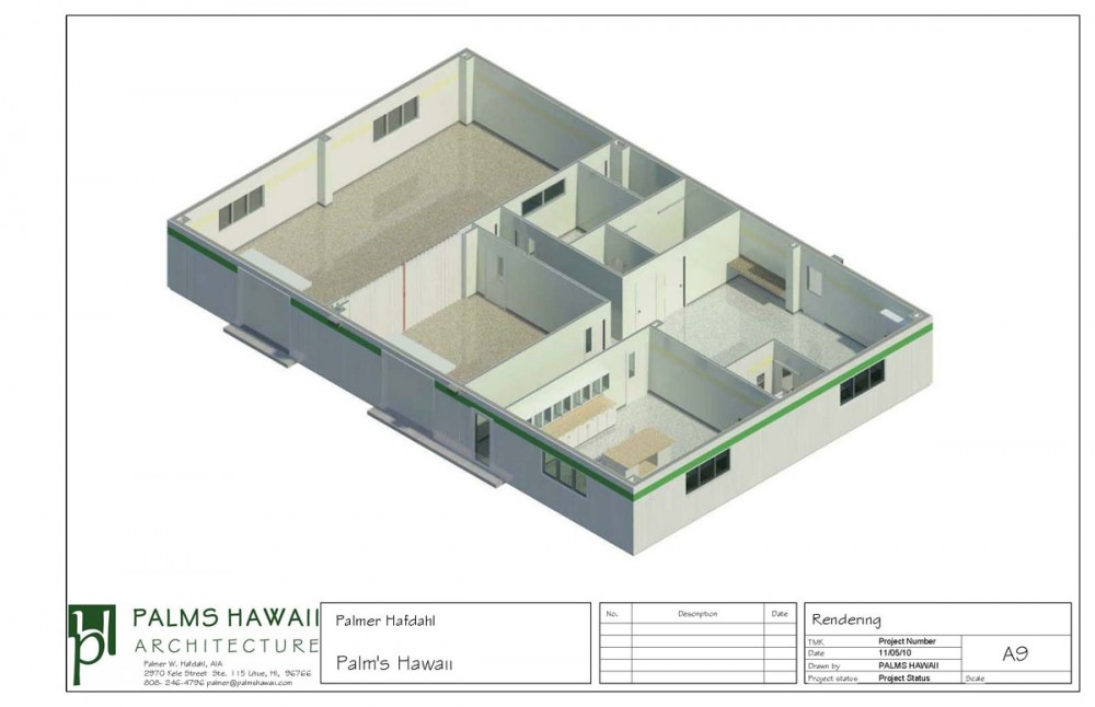 Showing: 3-D Plan in model section box